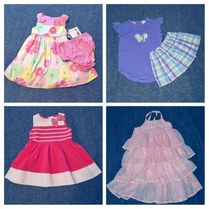 Lot of Girl Clothes EUC & NWT, size 12-18 mos